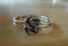 size 9 Sterling Silver Double Infinity Celtic Love Knot Ring