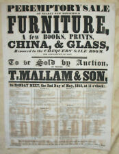 More details for original 19th century auction poster, mallam & son, oxford, 1853