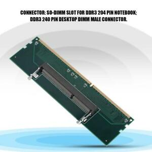 Laptop DDR3 RAM to Desktop Adapter Card Memory RAM Tester SO-DIMM Converter YUN