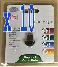 LOT 10 x  Bluetooth USB 2.0 Dongle Adapter for PC LAPTOP WIN XP VISTA 7 8 10