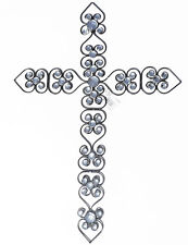 Faux Jeweled Metal Wall Cross