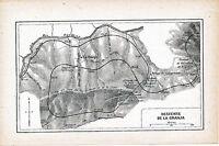 La Granja di San Vicente 1915 peq. mapa ferroviaria orig. Rio Tremor túnels