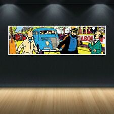 TINTIN HADDOCK TOURNESOL 40x12 INCHES COLORFUL POPART STYLE POSTER