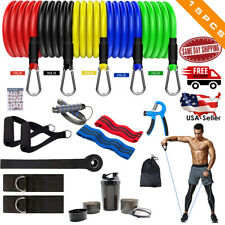 15pcs/Set Pull Rope Exercise Resistance Bands Home Gym Equipment Fitness Yoga