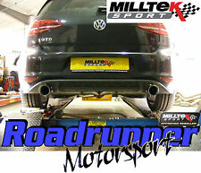 "MILLTEK GOLF MK7 GTD 2.0 TDI 185PS 3"" CAT BACK SCARICO nonres GTI Stile SSXVW247"