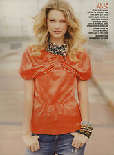 Taylor Swift 4pg + cover TEEN VOGUE magazine feature, clippings