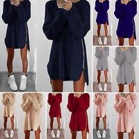 Oversized Sweater Dress Women Long Sleeve Knit Cardigan Jumper Tops Loose Casual