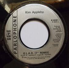 "Kim Appleby - G.L.A.D (Remix & Instr.) 1990s Classic Pop Jukebox 7"" Vinyl 45RPM"