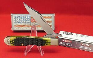 CASE XX 6111-1/2L SS Cheetah, 2020 Olive Green Bone Mint Knife, Orig Box #13285