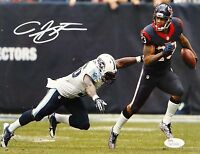Arian Foster Autographed Texans 8x10 Running Against Titans Photo- JSA W Auth