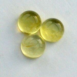 13.90Cts Lot Natural African Lemon Quartz Round Cabochon Loose Gems- 10mm Size