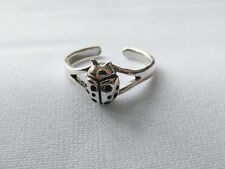Sterling  Silver  (925)  Adjustable  Ladybird  Toe  Ring  !!     Brand New !!