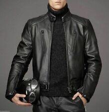 Men's Stylish Black Biker Real Leather Jacket Lambskin High Quality Motorcycle