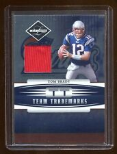2006 LIMITED TOM BRADY GAME WORN RED PATCH JERSEY #D /100 PATRIOTS 4X SUPER BOWL