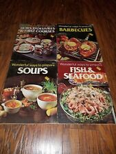 Lot of 4 Wonderful Ways to Prepare cookbooks, Barbecues, Fish and Seafood 1978