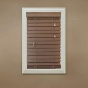 HDC Maple 2-1/2 in. Premium Faux Wood CORDED Blind - 42 in. W x 64 in. L