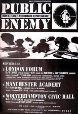 "PUBLIC ENEMY TOUR POSTER / KONZERTPLAKAT ""ENGLAND TOUR"""