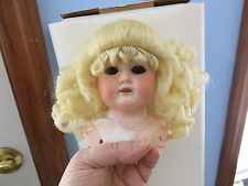 Size 9 Light Blonde Robyn Synthetic Mohair Wig Antique Modern Doll