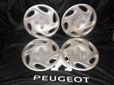 "Set of 4 New Genuine Peugeot 206 14"" Florida Wheel Trim"