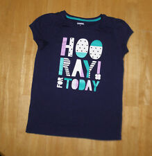 GYMBOREE HOP n ROLL BLUE HOORAY FOR TODAY TOP  GIRLS 8 FALL  SPRING COTTON