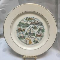 Vintage Michigan Knowles collector plate