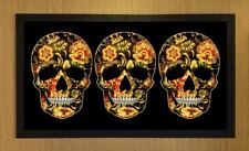 Skull Candy Gothic Day Of The Dead Beer Lager Bar Runner Pub Club Cocktail Mat