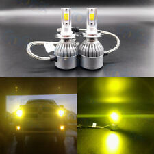 NEW H7 3000K Yellow 8000LM CREE LED Headlight Bulbs Kit High Low Beam Fog Light