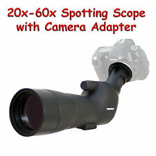20-60x 60a 2000mm 6000mm Spotting Telescope for Nikon D800E D5100 Digiscoping