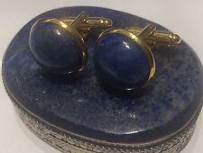 vintage Lapis Lazuli Cabochon cufflinks 18mm Round
