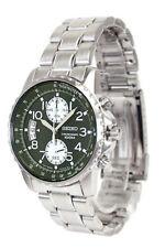 SEIKO Chronograph SNN077 SNN077P1 Mens Green Dial Stainless Steel Watch