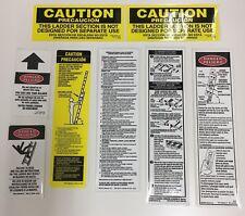 Werner LFE100 Fiberglass Extension Ladder Labels