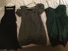 Aqua And Zara Basic Dress Lot Of 3 Size 6 M Medium Black Green Gray Cocktail