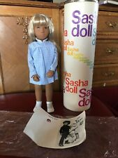 Sasha Doll 1973 Blonde Gingham 4-107 Trendon Mint Condition With Tube.