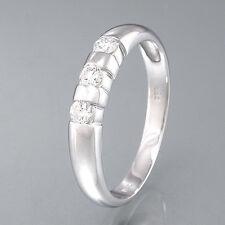 CHRIST Ring - 14K/585 Weißgold  - 3 Brillanten ca. 0,20 ct W/SI - 2,8 g - Gr. 58