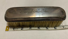 Antique Silver Plated Grooming Clothing Brush 7�