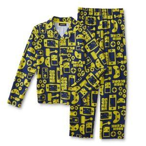 Video Game Pajamas Boys Size 8 Medium Gamer Shirt/Pant set Gaming Flannel M NEW