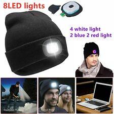 Men Women Rechargeable LED Light Beanie Hat Knit Cap Jogging Night Walking