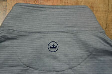 PETER MILLAR Men Birchmont Melange Ribbed Quarter Zip Pullover Gray Small Jacket