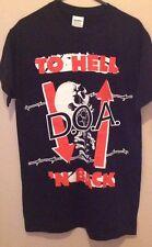 D.O.A Black Men's T Shirt Size S Punk Hardcore DOA