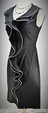 Samuel Dong Black Sleeveless Zipper Dress SZ XS sheath cocktail stretch sexy NEW