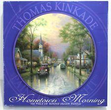 Thomas Kinkade Hometown Morning 24 Inch Round 750 Piece Jigsaw Puzzle New Sealed