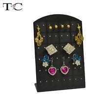 Black Plastic Acrylic Studs Stand Organizer Jewelry Display Rack Earring Holder