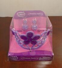 Wish I Was - Princess Tiara and Earrings - Dress Up Purple NEW