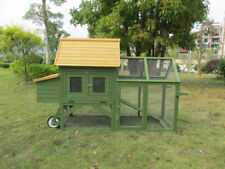 Deluxe Backyard Wood Chicken Coop Poultry Habitats