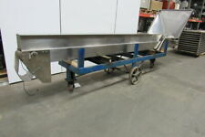"""Stainless Steel 14' (168"""") Vertical Incline Cleated Conveyor 6"""" Wide 90Vdc"""