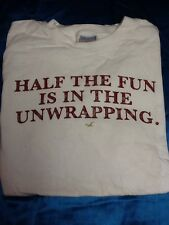Men's Medium Hollister Half the Fun is in the Unwrapping Christmas T-Shirt - M