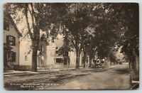 Bath New York~East Morris Street Homes~Short Picket Fences~1912 B&W Postcard