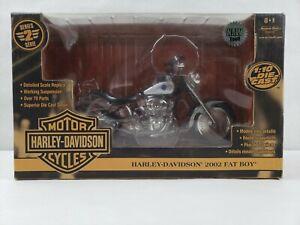 Ertl Harley Davidson 2002 Fat Boy 1/10 Scale Motorcycle Series 2