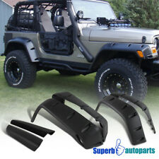 "1997-2006 Jeep Wrangler TJ Extended Bumper Fender Flares 7"" Full Wide Body Kit"