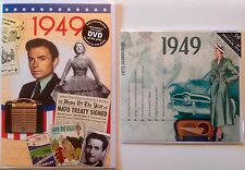 1949 68th Birthday Gifts Set - 1949 DVD , Pop CD and Card - CD Card Company.